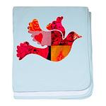 Red Bird Dove Flight baby blanket