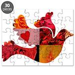 Red Bird Dove Flight Puzzle