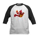 Red Bird Dove Flight Kids Baseball Jersey