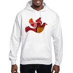 Red Bird Dove Flight Hooded Sweatshirt