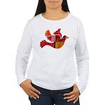 Red Bird Dove Flight Women's Long Sleeve T-Shirt