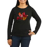 Red Bird Dove Flight Women's Long Sleeve Dark T-Sh
