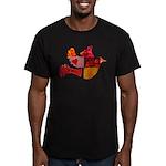 Red Bird Dove Flight Men's Fitted T-Shirt (dark)