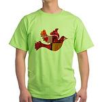Red Bird Dove Flight Green T-Shirt