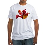 Red Bird Dove Flight Fitted T-Shirt