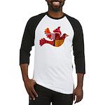 Red Bird Dove Flight Baseball Jersey