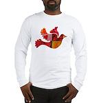Red Bird Dove Flight Long Sleeve T-Shirt