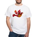 Red Bird Dove Flight White T-Shirt