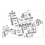 Love Dove - Words for love in Postcards (Package o