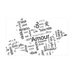 Love Dove - Words for love in 38.5 x 24.5 Wall Pee