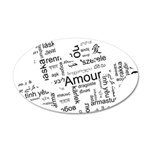 Love Dove - Words for love in 22x14 Oval Wall Peel