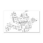Love Dove - Words for love in Car Magnet 20 x 12