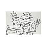 Love Dove - Words for love in Rectangle Magnet (10