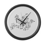 Love Dove - Words for love in Large Wall Clock