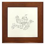 Love Dove - Words for love in Framed Tile