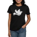 Love Dove - Words for love in Women's Dark T-Shirt