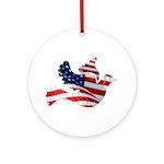 USA American Flag Freedom Dov Ornament (Round)
