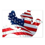 USA American Flag Freedom Dov Postcards (Package o