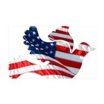 USA American Flag Freedom Dov 38.5 x 24.5 Wall Pee