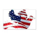 USA American Flag Freedom Dov 22x14 Wall Peel