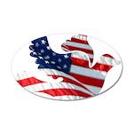 USA American Flag Freedom Dov 22x14 Oval Wall Peel