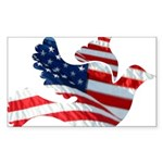 USA American Flag Freedom Dov Sticker (Rectangle 1