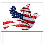USA American Flag Freedom Dov Yard Sign