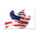 USA American Flag Freedom Dov Car Magnet 20 x 12
