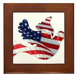 USA American Flag Freedom Dov Framed Tile