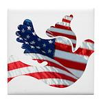 USA American Flag Freedom Dov Tile Coaster