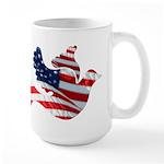 USA American Flag Freedom Dov Large Mug