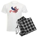 USA American Flag Freedom Dov Men's Light Pajamas