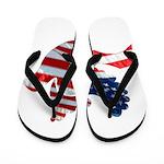 USA American Flag Freedom Dov Flip Flops