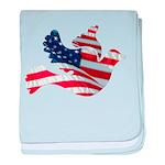 USA American Flag Freedom Dov baby blanket