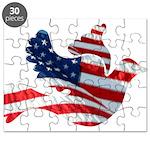 USA American Flag Freedom Dov Puzzle