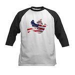USA American Flag Freedom Dov Kids Baseball Jersey