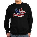 USA American Flag Freedom Dov Sweatshirt (dark)