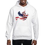 USA American Flag Freedom Dov Hooded Sweatshirt