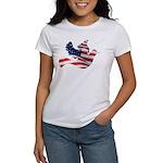 USA American Flag Freedom Dov Women's T-Shirt
