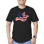 USA American Flag Freedom Dov Men's Fitted T-Shirt