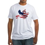 USA American Flag Freedom Dov Fitted T-Shirt
