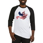 USA American Flag Freedom Dov Baseball Jersey