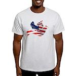 USA American Flag Freedom Dov Light T-Shirt