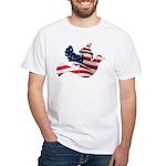 USA American Flag Freedom Dov White T-Shirt