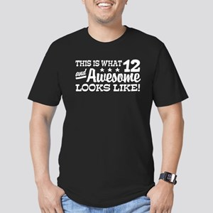 Funny Twelve Year Old Men's Fitted T-Shirt (dark)