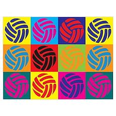 Volleyball Pop Art Wall Art Poster