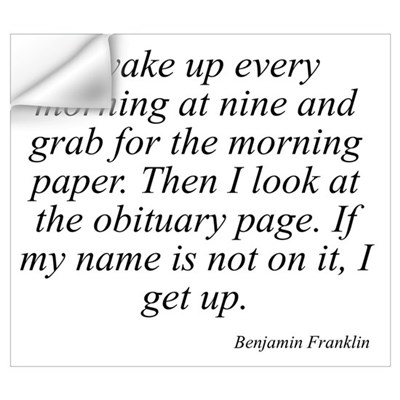 Benjamin Franklin quote 78 Wall Art Wall Decal