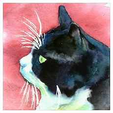 Tuxedo Cat Wall Art Poster