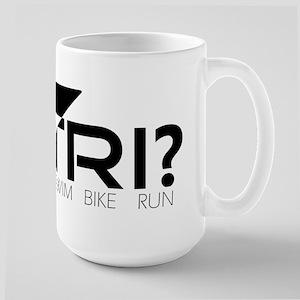 Y Tri? Logo Large Mug