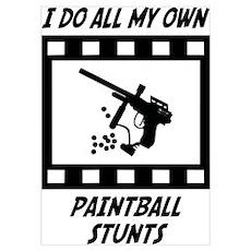 Paintball Stunts Wall Art Poster